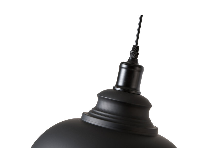 Moderne Middelgrote Zwarte Hanglamp – Scaldare Alvito