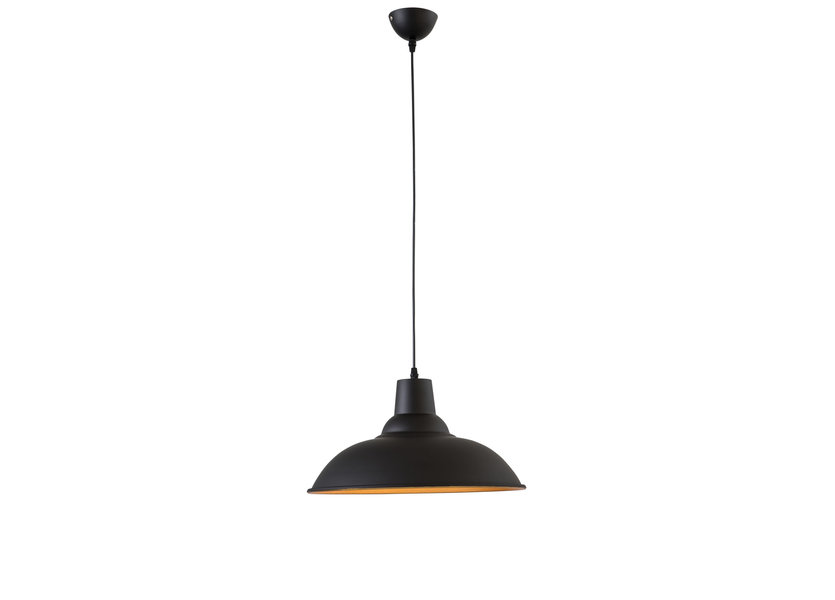 Moderne Grote Zwarte Hanglamp – Scaldare Altino