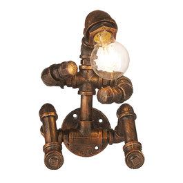 Funnylights Industriële Wandlamp Waterleiding Man – Funnylights Golem