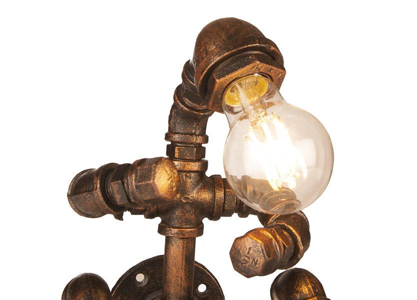 Industriële Wandlamp Waterleiding Man – Funnylights Golem