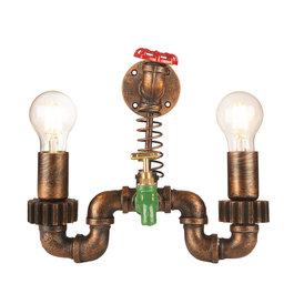 Funnylights Industriële Wandlamp Tap met Twee Lichtpunten – Funnylights Ditto