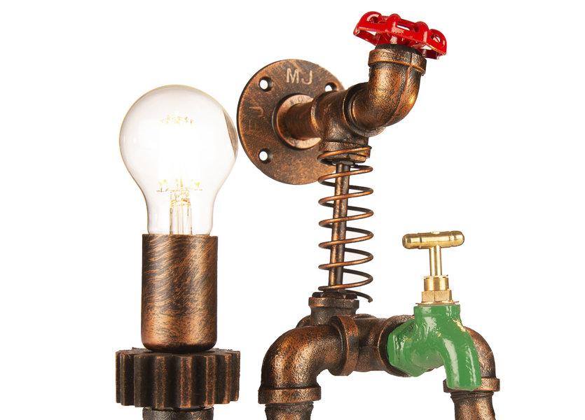 Industriële Wandlamp Tap met Twee Lichtpunten – Funnylights Ditto