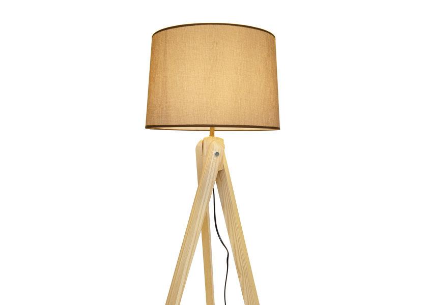 Staande Lamp Driepoot Hout - Valott Bamboo