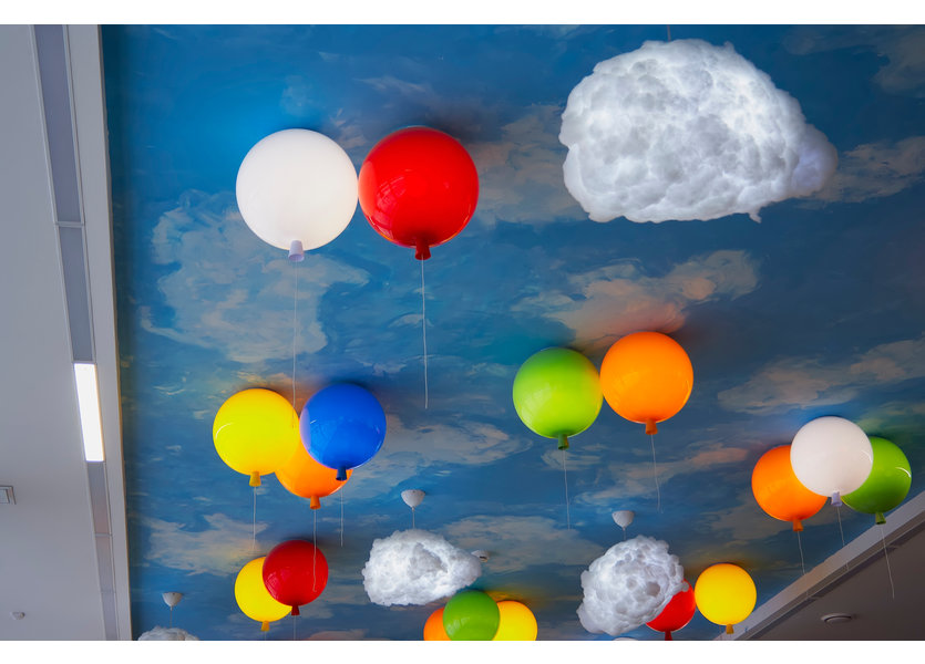 Plafondlamp Ballon Rood Middelgroot inclusief 4W LED lamp - Funnylights