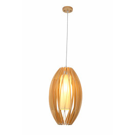 Madera Hanglamp Hout Ovaal Houtkleur 29 cm - Madera Encina