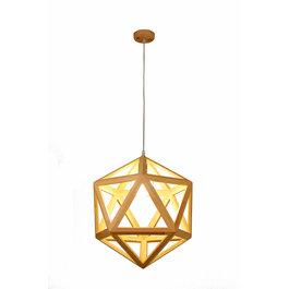 Madera Hanglamp Hout Diamant Houtkleur 50 cm - Madera Negundo