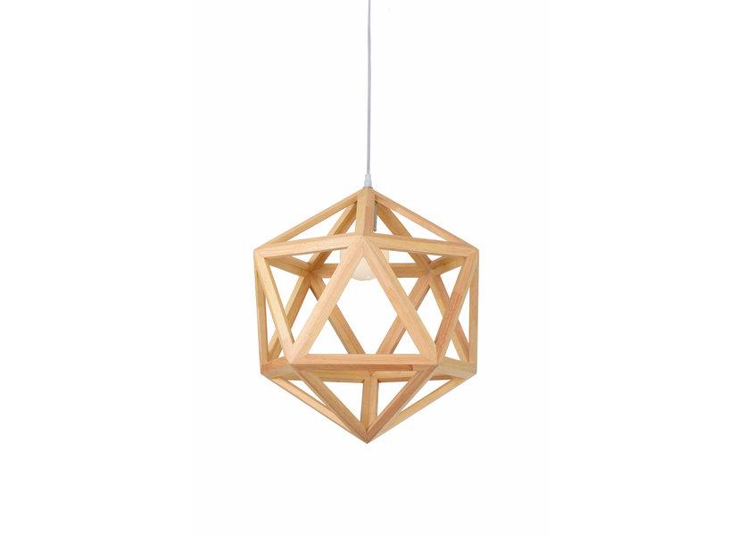 Hanglamp Hout Diamant Houtkleur 50 cm - Madera Negundo