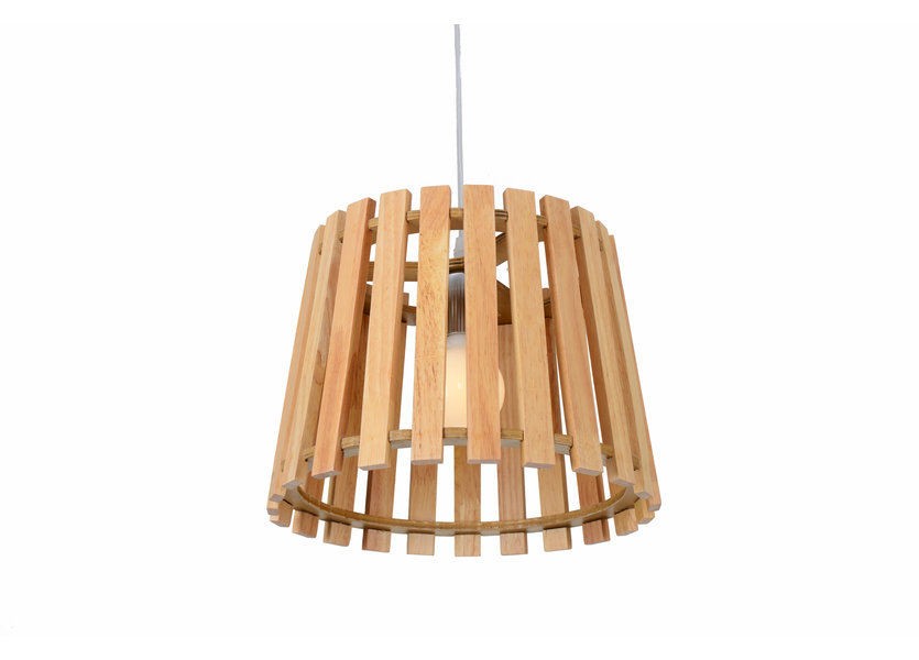 Hanglamp Hout Rond Houtkleur 34 cm - Madera Betula