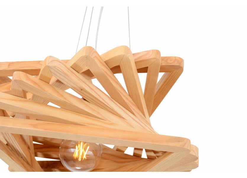 Hanglamp Hout Houtkleur 43 cm - Madera Pendula