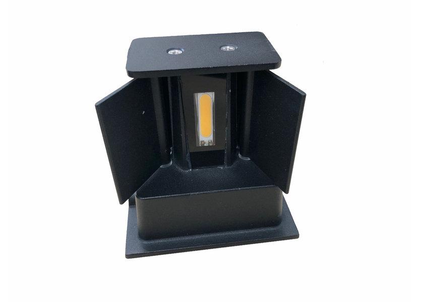 Wandlamp Buiten Kubus up down LED Zwart - Garleds Klimop