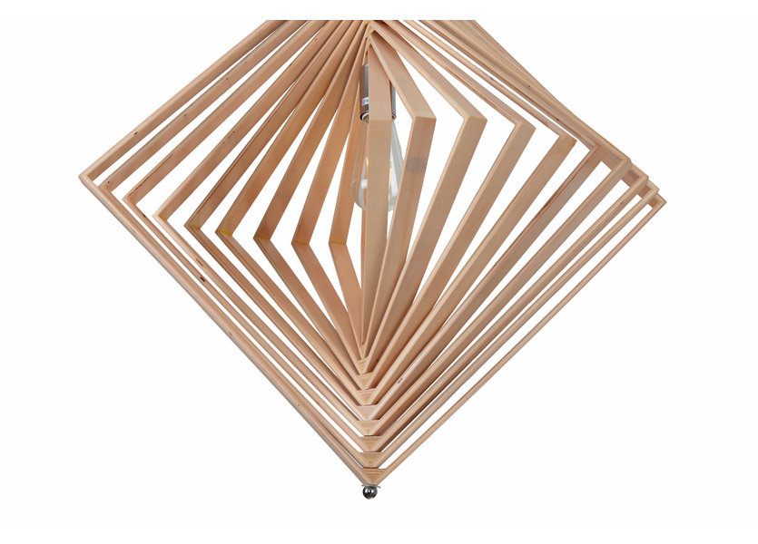 Hanglamp Hout Houtkleur 62 cm - Madera Palmera