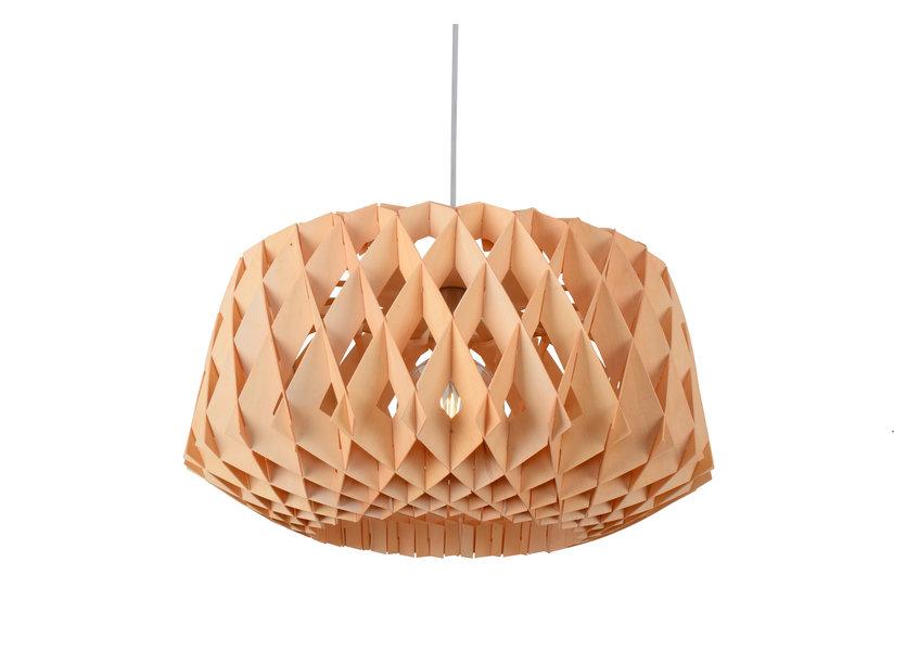 Hanglamp Hout Houtkleur 57 cm - Madera Ceratonia