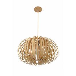 Madera Hanglamp Hout Rond Houtkleur 53 cm - Madera Sabina
