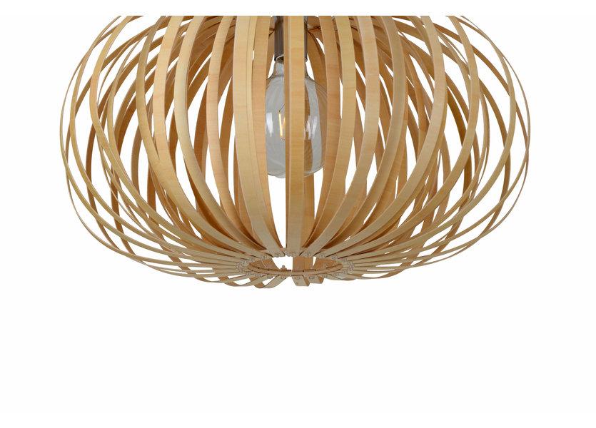 Hanglamp Hout Rond Houtkleur 53 cm - Madera Sabina
