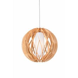 Madera Hanglamp Hout Rond Houtkleur 40 cm - Madera Alcornoque