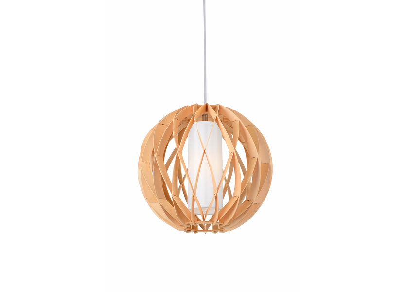 Hanglamp Hout Rond Houtkleur 40 cm - Madera Alcornoque