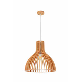 Madera Hanglamp Hout Rond Houtkleur 45 cm - Madera Aliso