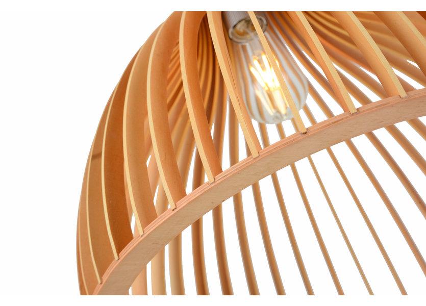 Hanglamp Hout Rond Houtkleur 45 cm - Madera Aliso