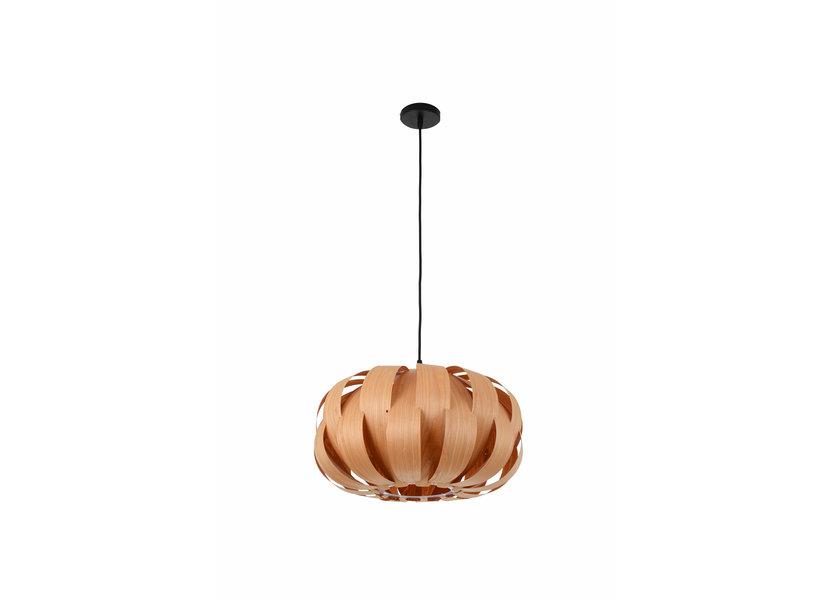 Hanglamp Hout Rond Houtkleur 45 cm - Madera Almez