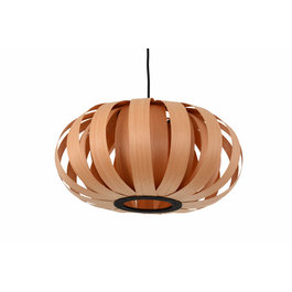 Madera Hanglamp Hout Rond Houtkleur 40 cm - Madera Algarrobo