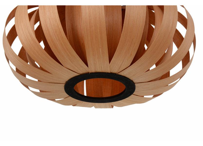 Hanglamp Hout Rond Houtkleur 40 cm - Madera Algarrobo