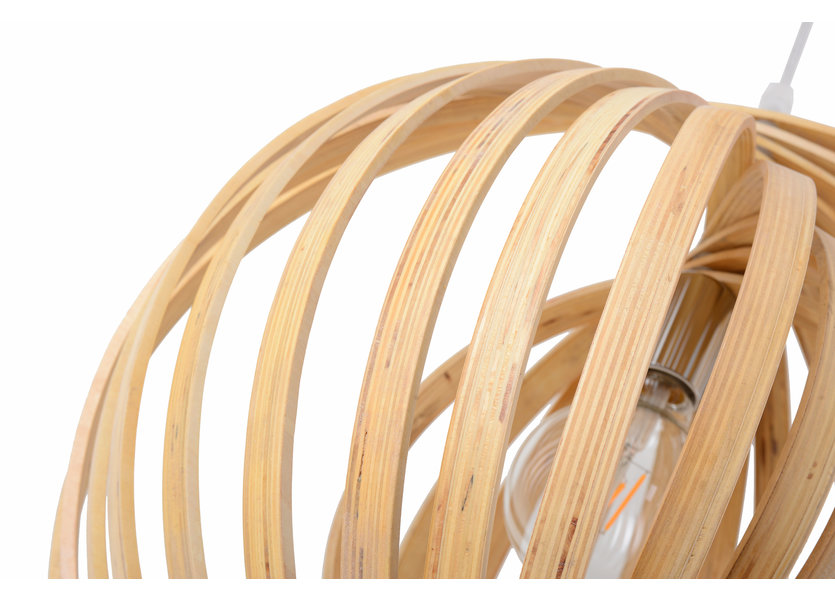 Hanglamp Hout Houtkleur 45 cm - Madera Mediterráneo