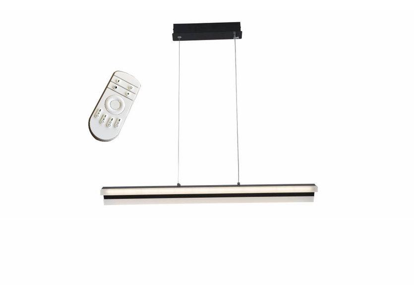 Dimbare LED Hanglamp Zwart 70 cm incl. afstandsbediening - Saniled Tukor