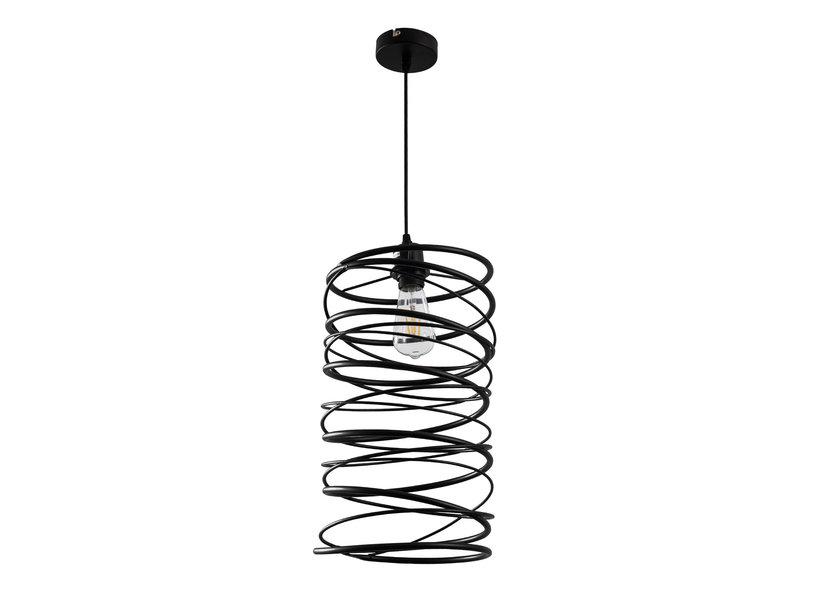 Hanglamp Industrieel Zwart Rond 25 cm - Scaldare Alesso