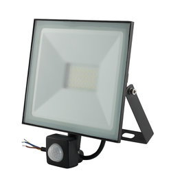Crius LED Bouwlamp Zwart met Sensor 50 Watt-3000K - IP66 - Crius