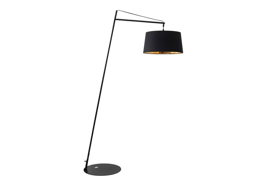 Staande lamp Modern Zwart met Kap H160 cm - Scaldare Vivaro