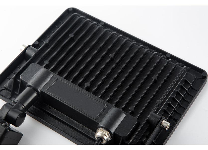 LED Bouwlamp Zwart met Sensor 50W - 3000K - IP66 - Crius
