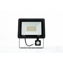 Crius LED Bouwlamp Zwart met Sensor 50W - 3000K - IP66 - Crius