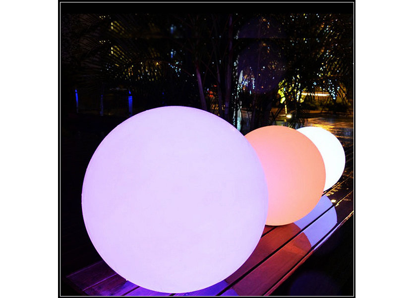 Oplaadbare Bol 30 cm LED RGB  incl. Afstandsbediening - Funnylights Venonat Tuinlamp