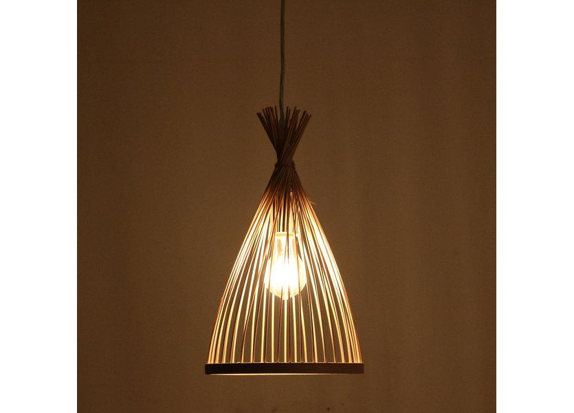 Hanglamp Hout Ovaal Houtkleur 22 cm - Madera Higuera