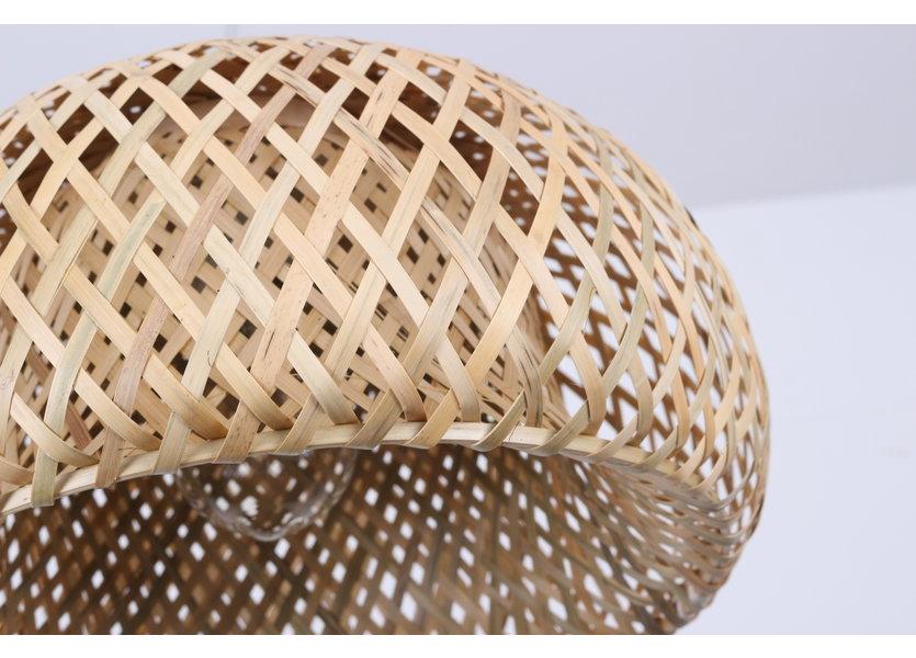 Hanglamp Hout Rond Houtkleur 38 cm - Madera Acebo