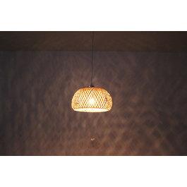 Madera Hanglamp Hout Rond Houtkleur 38 cm - Madera Acebo