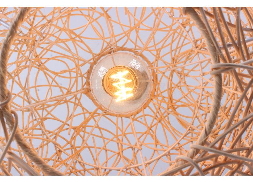 Hanglamp Hout Rond Houtkleur 30 cm - Madera Avellano