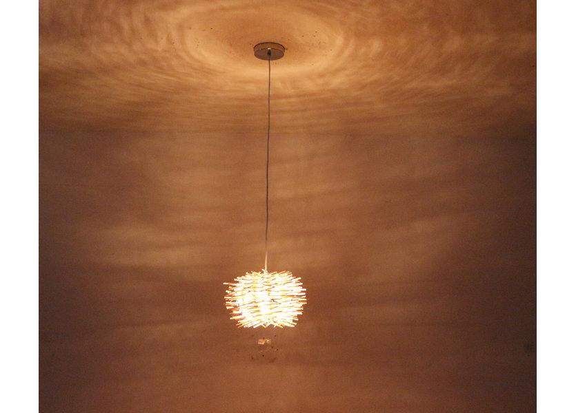 Hanglamp Hout Rond Houtkleur 40 cm - Madera Cinamomo