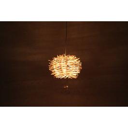Madera Hanglamp Hout Rond Houtkleur 40 cm - Madera Cinamomo