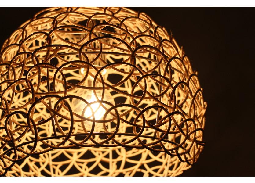 Hanglamp Hout Rond Houtkleur 35 cm - Madera Carpe
