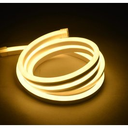 Funnylights Mini LED Neon Flex Warm Wit 5 meter 8mm x 16mm inclusief 12V lichtnetadapter - Funnylights