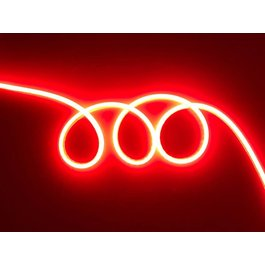 Funnylights Mini LED Neon Flex Rood 1 meter 6mm x 12mm inclusief 12V lichtnetadapter - Funnylights