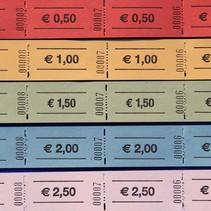 Consumptiebon op rol met Eurobedrag