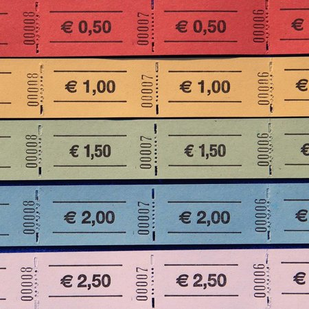 CombiCraft Consumptiebon op rol Eurobedrag  (57x30 mm)