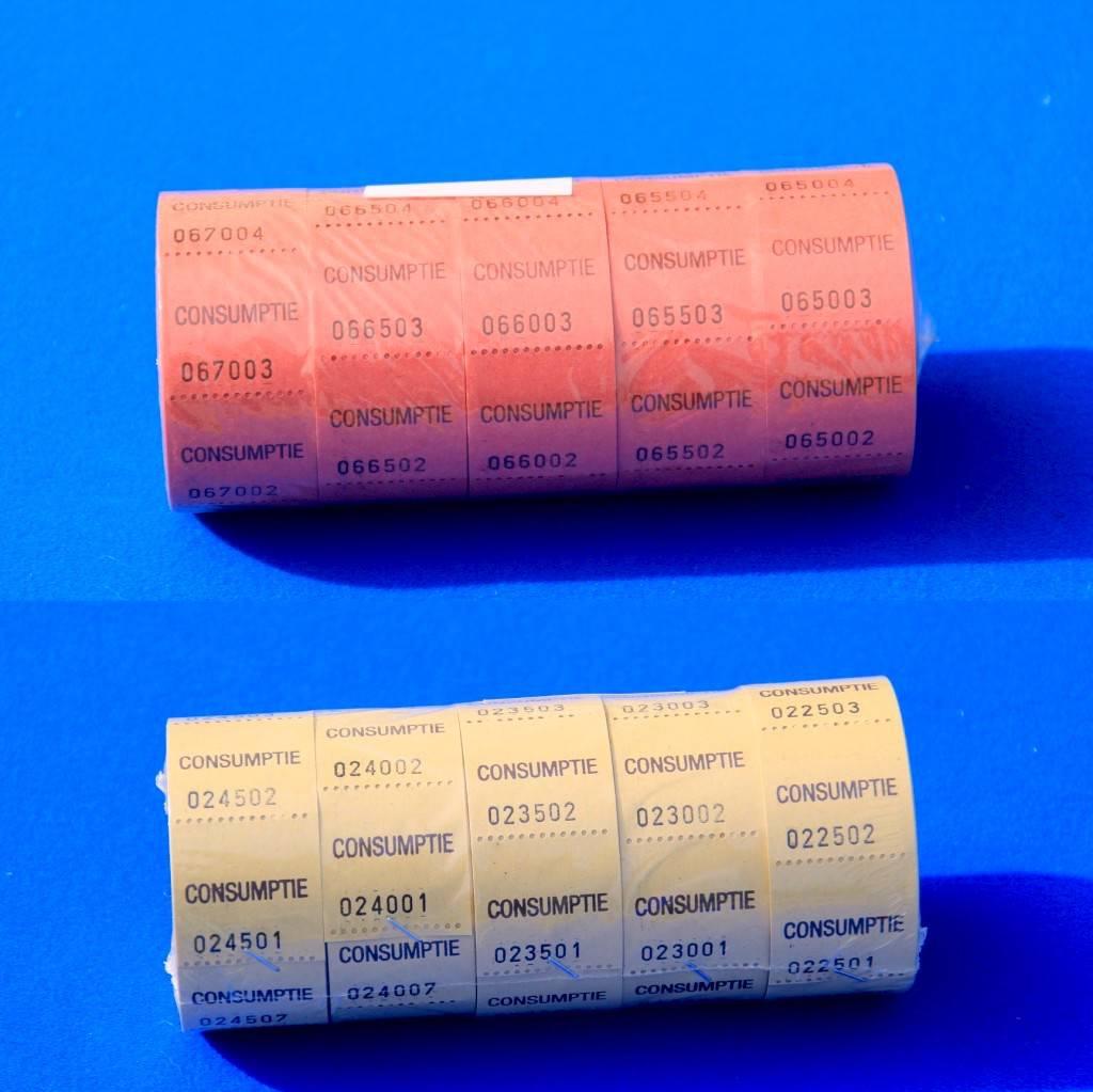 CombiCraft Consumptiebon op rol  (30x30 mm)  - prijs per 500 bonnen, vanaf :