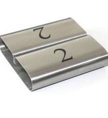 8ef231873dc CombiCraft Zilverkleurige RVS Kaartklem met nummers