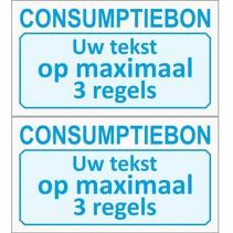 Consumptiebon met uw eigen tekst op lichtgrijs papier
