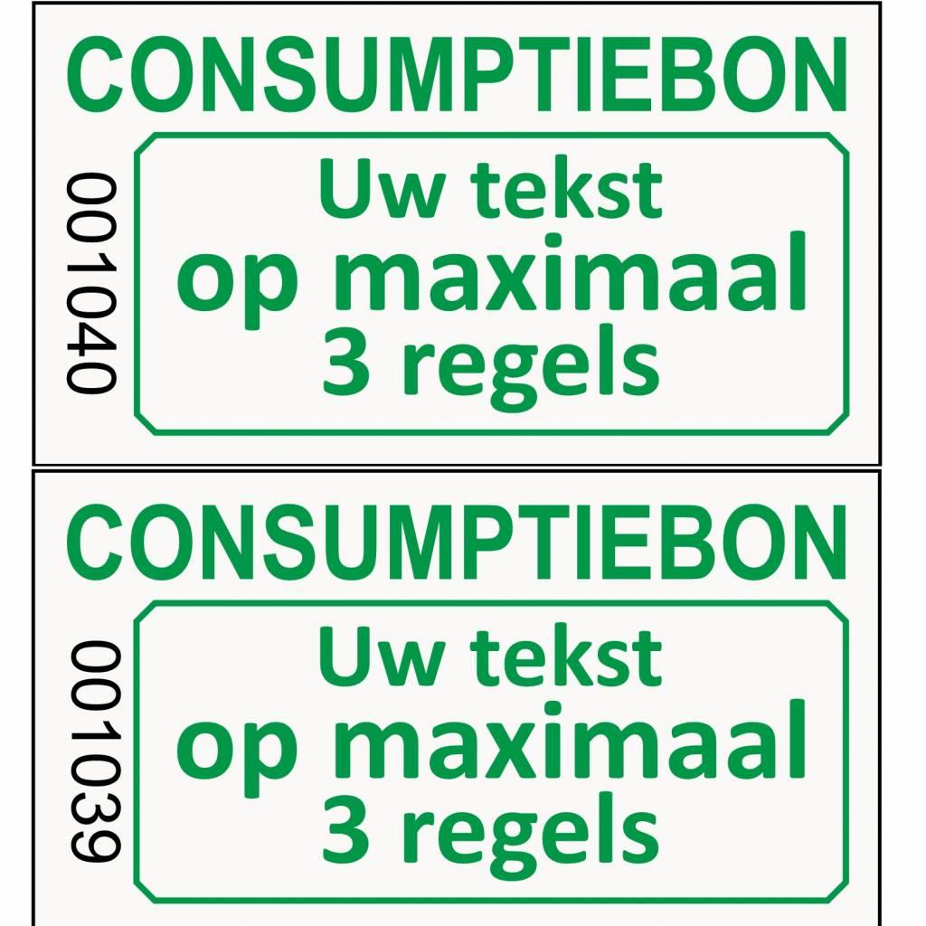CombiCraft Genummerde consumptie- bon met uw tekst op lichtgrijs papier -  PRIJS PER 1000 STUKS VANAF: