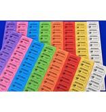 CombiCraft Consumptiebonnen 50 x 28 mm op strips met zwarte bedrukking op gekleurd papier 1000 stuks