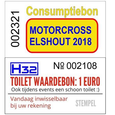 CombiCraft Consumptiebonnen 50 x 27½ mm op strips met Full Colour bedrukking en doorlopende nummering 1000 stuks